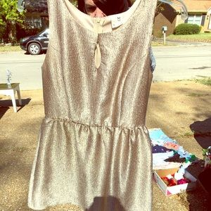 Gold crinkle dress worn once!
